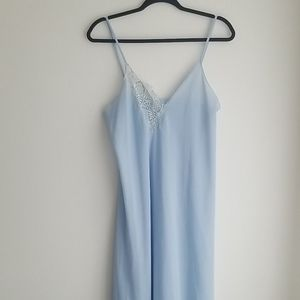 Vintage Powder Blue Lace Slip Dress